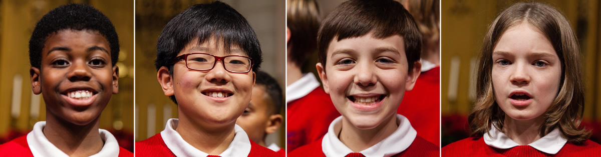 Faces of Boys in the Choir